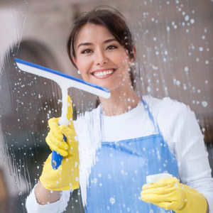 Women Cleaning Office Windows - Building Services of America (BSA)