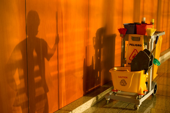Commercial Cleaning Cart - Building Services of America (BSA)